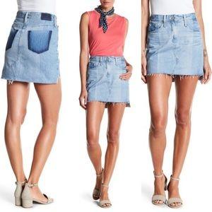 AG The Sandy Denim Jean Mini Skirt Size 25
